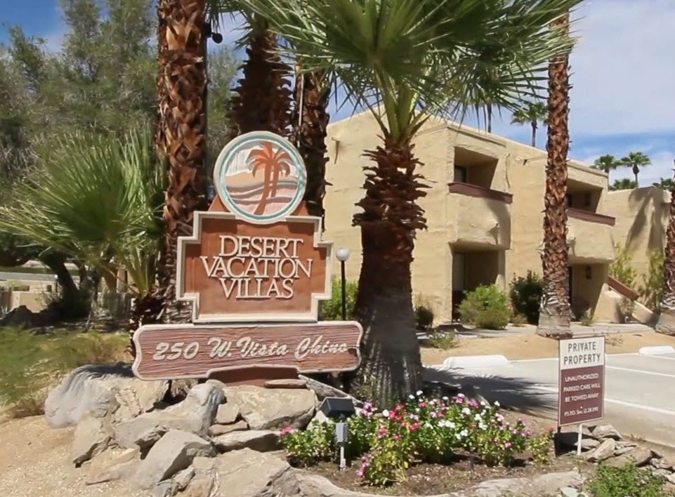 Photo of Desert Vacation Villas Resort Signage - Private Property Signage