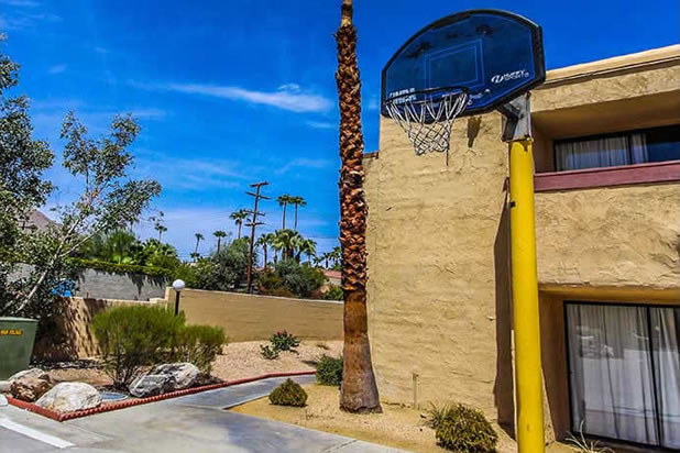 Photo of basketball hoop.