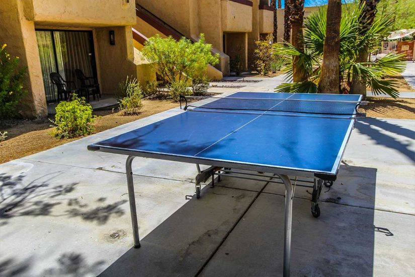 Photo of ping pong table.